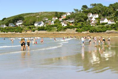 L'ANSE DU BRICK-Accès direct à la plage pour le camping L'ANSE DU BRICK-MAUPERTUS SUR MER