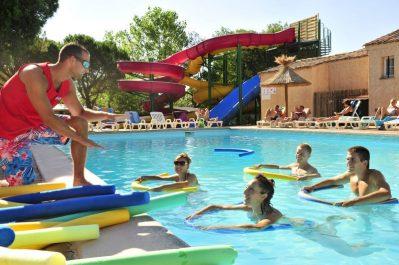 LES AUBREDES-La piscine du camping LES AUBREDES-PUGET SUR ARGENS