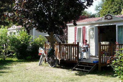 LA ROCHE POSAY VACANCES-Les mobil-homes du camping LA ROCHE POSAY VACANCES-ROCHE POSAY