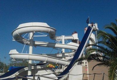 L'ESPIGUETTE-Jeux aquatiques au camping L'ESPIGUETTE, das Departement Gard-GRAU DU ROI