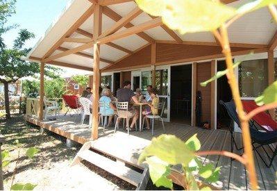 L'ESPIGUETTE-Les chalets du camping L'ESPIGUETTE-GRAU DU ROI