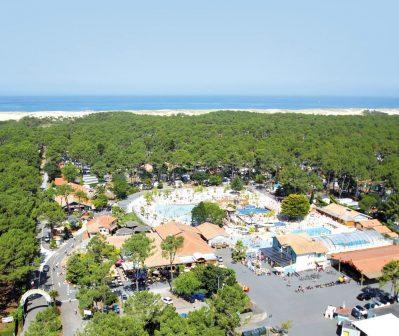 LE VIEUX PORT-Accès direct à la plage pour le camping LE VIEUX PORT-MESSANGES