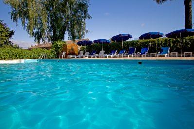 LE PRESSOIR-La piscine du camping LE PRESSOIR-PETIT PALAIS ET CORNEMPS