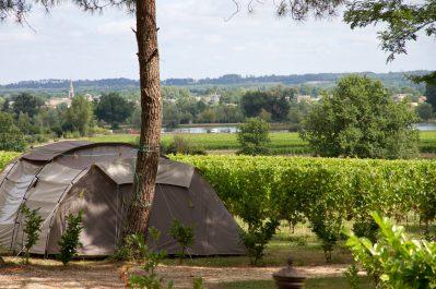 LE PRESSOIR-Les emplacements du camping LE PRESSOIR-PETIT PALAIS ET CORNEMPS