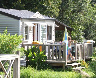 DOMAINE DE LA VILLE HUCHET-Les mobil-homes du camping DOMAINE DE LA VILLE HUCHET-SAINT MALO