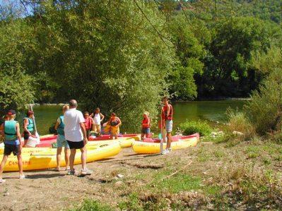 LA CASCADE DES NAISSES-Accès direct à la rivière im Departement Aveyron-SAINT ROME DE TARN