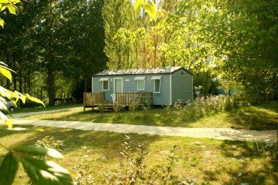 LAC DE LISLEBONNE-Les mobil-homes du camping LAC DE LISLEBONNE-REAUP LISSE