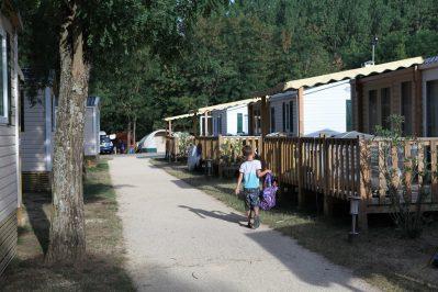 LA ROUBINE-Les mobil-homes du camping LA ROUBINE-VALLON PONT D'ARC