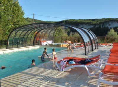 LA SAGNE-La piscine du camping LA SAGNE-VITRAC