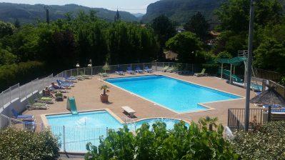 LE GRILLOU-La piscine du camping LE GRILLOU-ROSIERES