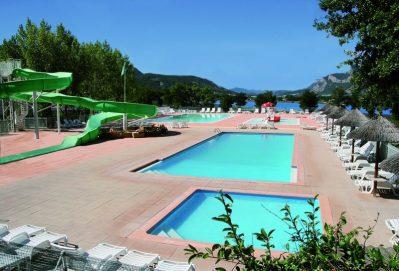 LE LAC-Le parc aquatique du camping LE LAC-CURBANS