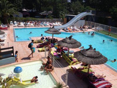 LES SABLETTES-La piscine du camping LES SABLETTES-AGDE