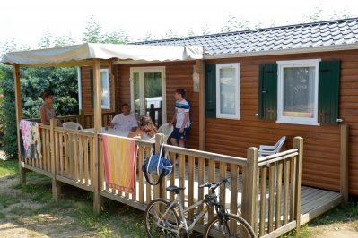 LES ALBERES-Les mobil-homes du camping LES ALBERES-LAROQUE DES ALBERES