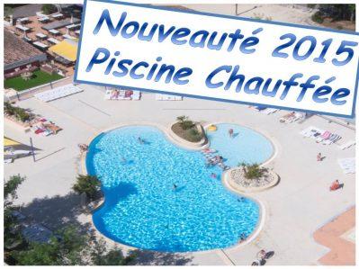 LA PLAGE FLEURIE-La piscine du camping LA PLAGE FLEURIE-VALLON PONT D'ARC