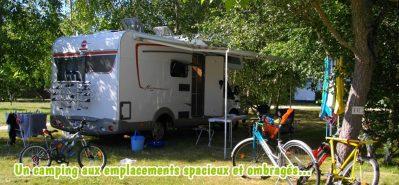 LES FRANQUETTES-Les emplacements du camping LES FRANQUETTES-GRAYAN ET L HOPITAL