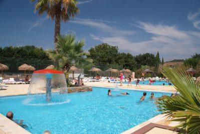 L'ARGENTIERE-La piscine du camping L'ARGENTIERE-COGOLIN