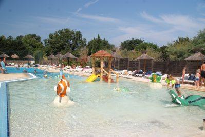 L'ARGENTIERE-Jeux aquatiques au camping L'ARGENTIERE, le Var-COGOLIN