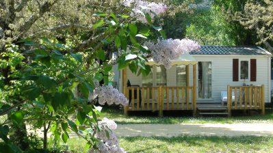 LES GORGES-Les mobil-homes du camping LES GORGES-SAINT MARTIN D'ARDECHE