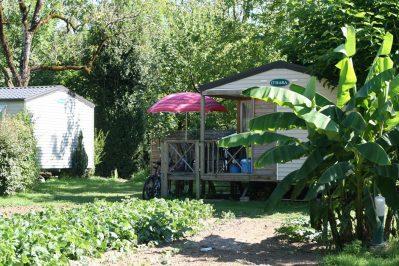 AU SOLEIL D'OC-Les mobil-homes du camping AU SOLEIL D'OC-MONCEAUX SUR DORDOGNE