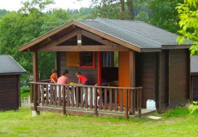 CAMPING DU LAC-Les chalets du camping CAMPING DU LAC-MARCILLAC LA CROISILLE