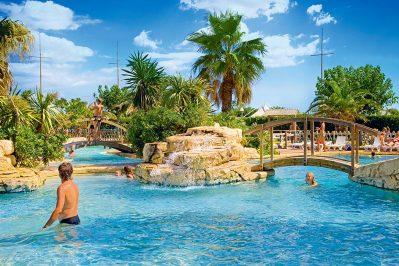 LE PETIT MOUSSE-La piscine du camping LE PETIT MOUSSE-VIAS