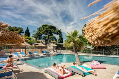 CAP TAILLAT-La piscine du camping CAP TAILLAT-RAMATUELLE