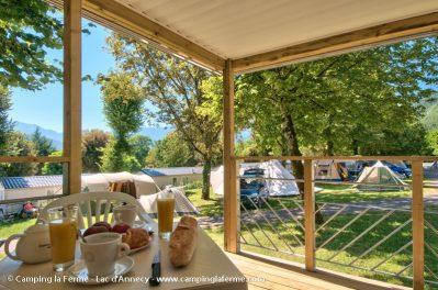 LA FERME-Les mobil-homes du camping LA FERME-LATHUILE