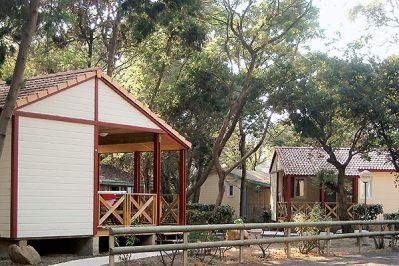 SAN DAMIANO-Un parc locatif ombragé das Departement Haute Corse-BIGUGLIA