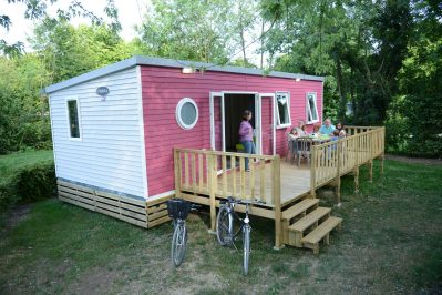 LA PLAINE TONIQUE - Les mobil-homes du camping LA PLAINE TONIQUE - MONTREVEL EN BRESSE