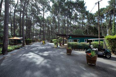 LE TEDEY-L'entrée du camping LE TEDEY-LACANAU