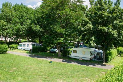 LE TIVOLI-Les emplacements du camping LE TIVOLI-BAGNOLS LES BAINS