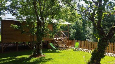 L'OFFRERIE-Les hébergements insolites du camping L'OFFRERIE-ROUFFIGNAC ST CERNIN DE REILHAC