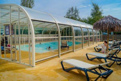 L'ILE VERTE-La piscine du camping L'ILE VERTE-SAINT BENOIT DES ONDES