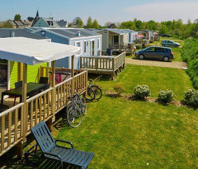 L'ILE VERTE-Les mobil-homes du camping L'ILE VERTE-SAINT BENOIT DES ONDES