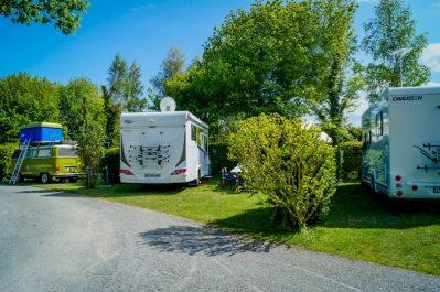 L'ILE VERTE-Les emplacements du camping L'ILE VERTE-SAINT BENOIT DES ONDES