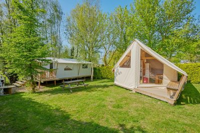 L'ILE VERTE-Le camping L'ILE VERTE, das Departement Ille-et-Vilaine-SAINT BENOIT DES ONDES