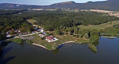 LA GRANGE DU PIN-Le camping vu du ciel-TREFFORT CUISIAT