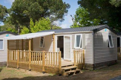 CAMPING DE L'ILE-Les mobil-homes du camping CAMPING DE L'ILE-BANNAY