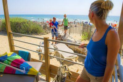 BEACH GARDEN-Accès direct à la plage pour le camping BEACH GARDEN-MARSEILLAN