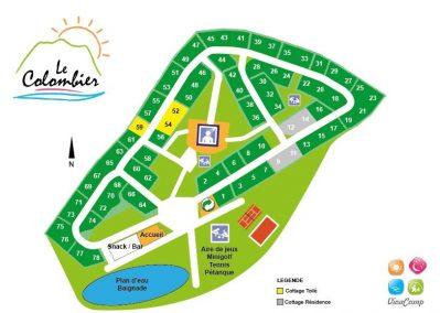 LE COLOMBIER-Un parc locatif ombragé l'Ain-CULOZ