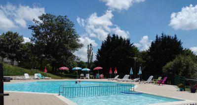 LES AURANDEIX-La piscine du camping LES AURANDEIX-TAUVES