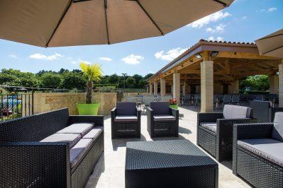 DOMAINE DE FROMENGAL-Le restaurant du camping DOMAINE DE FROMENGAL-BUISSON DE CADOUIN