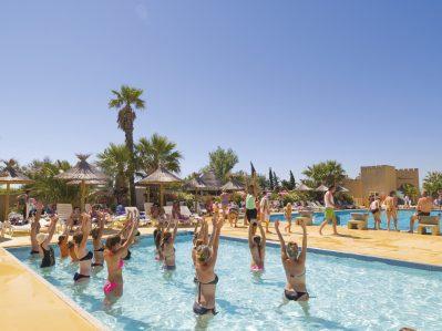 LES MIMOSAS-La piscine du camping LES MIMOSAS-NARBONNE