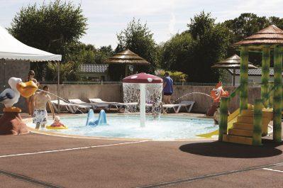 LA CLE DES CHAMPS-La piscine du camping LA CLE DES CHAMPS-MATHES