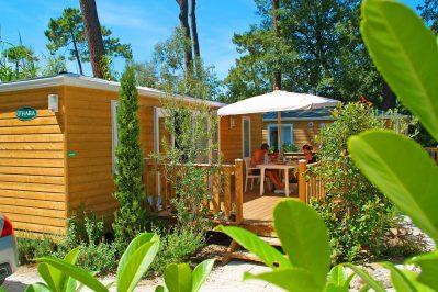 BOIS SOLEIL-Les mobil-homes du camping BOIS SOLEIL-SAINT GEORGES DE DIDONNE