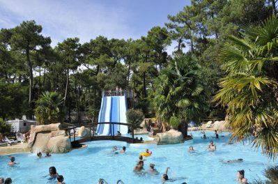 IDEAL CAMPING-La piscine du camping IDEAL CAMPING-SAINT GEORGES DE DIDONNE
