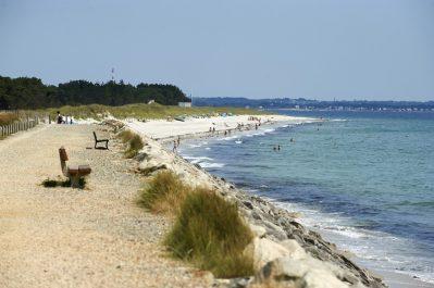 LA PLAGE DE CLEUT ROUZ-Accès direct à la plage pour le camping LA PLAGE DE CLEUT ROUZ-FOUESNANT