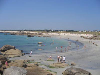 LE RAGUENES PLAGE-Accès direct à la plage pour le camping LE RAGUENES PLAGE-NEVEZ