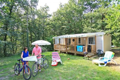 PARC DE FIERBOIS-Les mobil-homes du camping PARC DE FIERBOIS-STE CATHERINE DE FIERBOIS