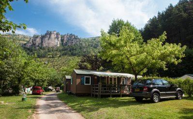 LE CAPELAN-Les mobil-homes du camping LE CAPELAN-MEYRUEIS